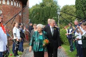 Spalier zur Goldenen Hochzeit